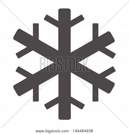 Air conditioning icon. Snowflake symbol. Flat icon on white background