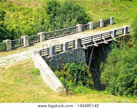 Bridge in a Fortress in a Khotyn town in Ukraine