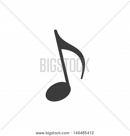 Music note icon icon. Music note icon Vector isolated on white background. Flat vector illustration in black. EPS 10
