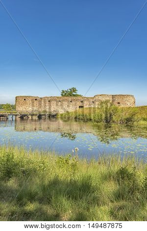 Kronobergs castle ruin in the smaland region of Sweden close to the city of Vaxjo.