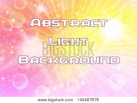 Abstract Pink and Yellow Background with Light Sparks, White Stars and Confetti. Eps10, Contains Transparencies. Vector