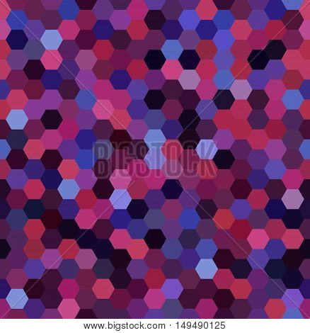 Vector Background With Pink, Purple Hexagons. Can Be Used For Printing Onto Fabric And Paper Or Deco