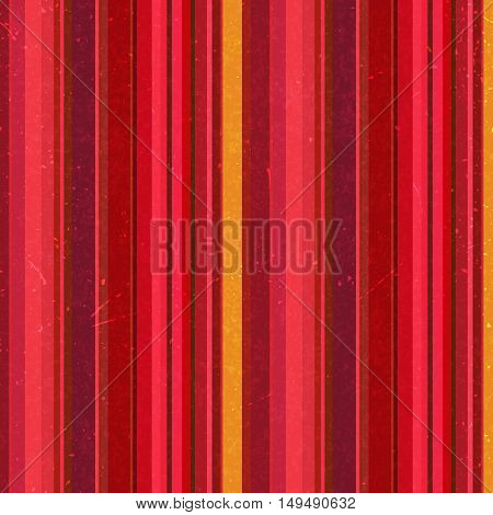 Vertical Red, Yellow Stripes Pattern, Seamless Texture Background. Ideal For Printing Onto Fabric An
