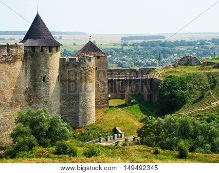 Fortress in a Khotyn town in Ukraine