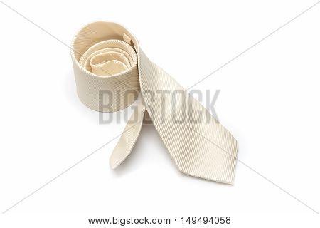 Luxury Striped Necktie Isolate On White