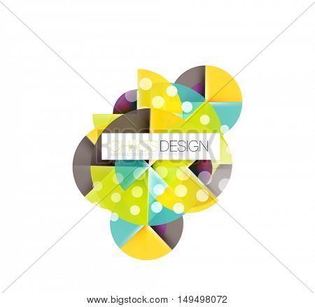 Round shape elements composition. Abstract vector background