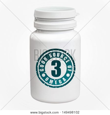 Bottle Of Pills With Omega-3