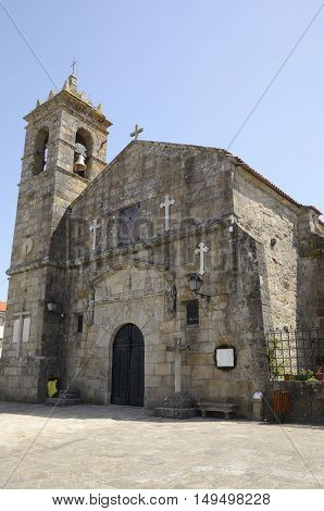 Church of San Francis in Cambados Galicia Spain.