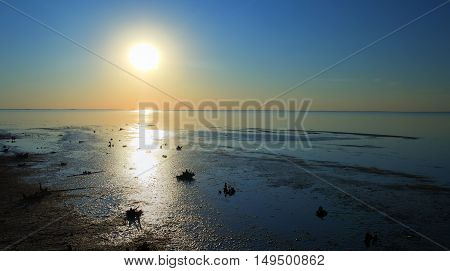 Najaf sea or lake shore sunset An-Najaf Iraq