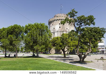 White Tower of Thessaloniki in Greece, Europe