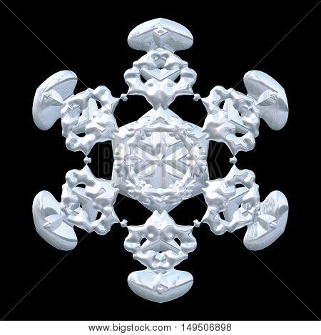 Delicate soft frozen snowflake christmas decoration image