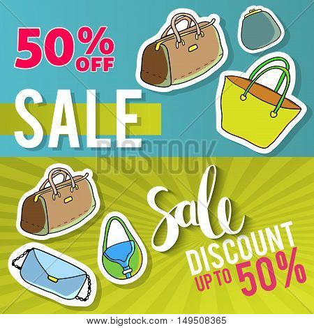 Sale and special offer. Colorful background, discounts, percent, sale. Vector illustration