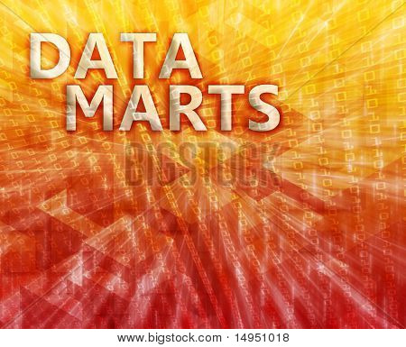 Data mart abstract, computer technology concept illustration
