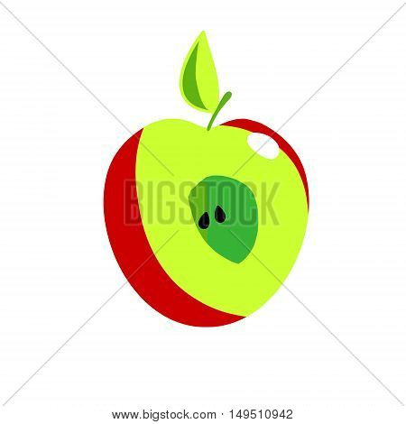 Vector image of half of an Apple.