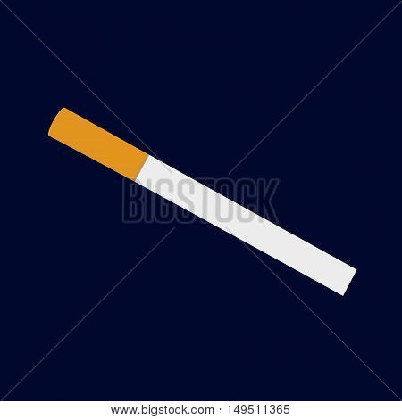 isolated classical white orange cigarette vector illustration