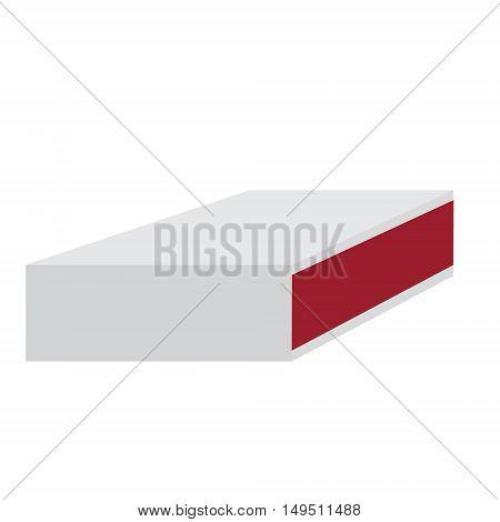 closed cardboard matchbox retro isolated vector illustration