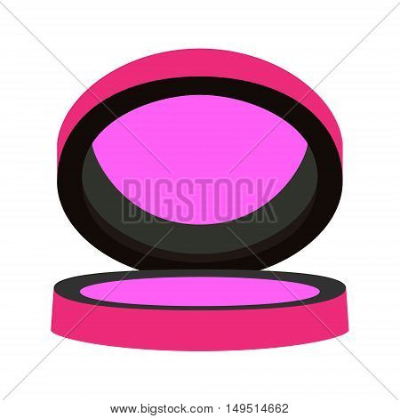 compact blush pink purple isolated vector illustration