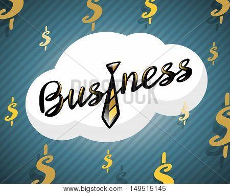 Business logo golden tie on dollar background, Vector illustration for your design, eps10