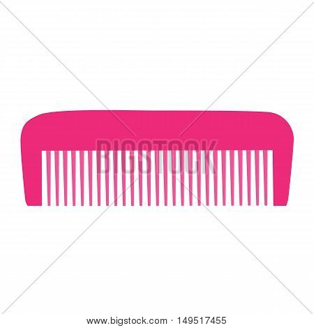 Comb , Barber Comb, Pink Plastic Comb Vector Illustration