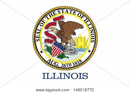 Flag of Illinois is a state of United States