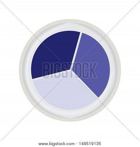 eye shadow trio blue isolated vector illustration