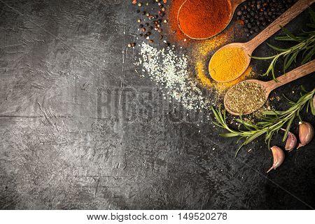 Spice on dark background