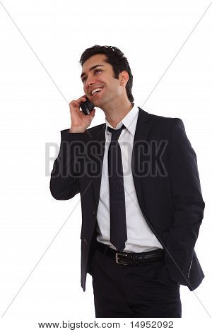 Business Man Negotiating On Phone