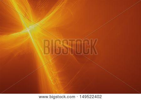 yellow glow energy wave. lighting effect abstract background.