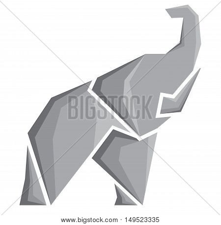 stylized vector image of an elephant. Logotype