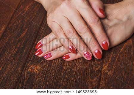 Festive Red Nail Art