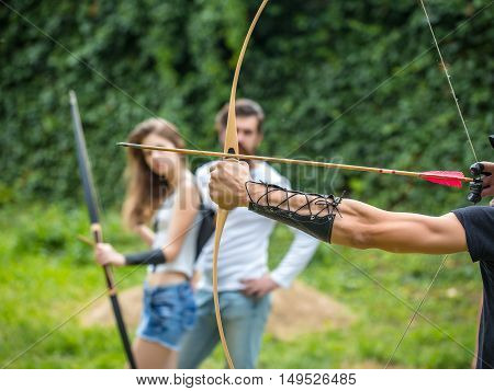 Couple Shoots Out Of The Bow