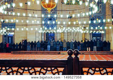 TURKEY ISTANBUL - JANUARY 8/2013: Orthodox pilgrims visited the Aya Sophia Mosque in Christmas.