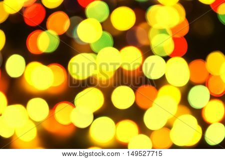 abstract beautiful background from bright Christmas garlands