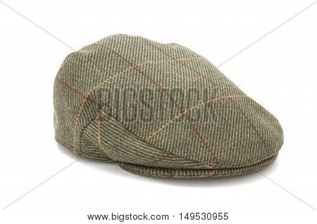 Green Tweed Hunting Flat Cap