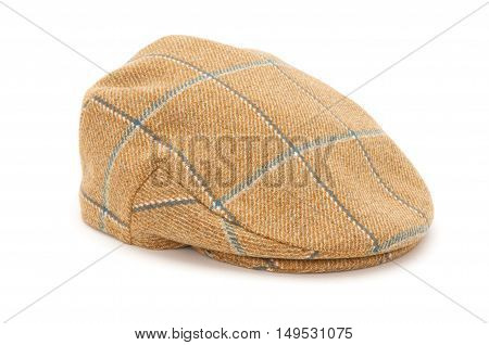 Brown Checked Tweed Hunting Flat Cap