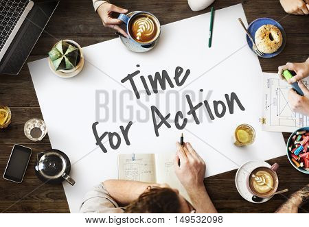 Time For Action Change Concept
