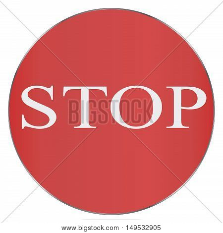 Red Stop Sign isolated on white background. Traffic regulatory warning stop symbol. Vector illustration, EPS10.
