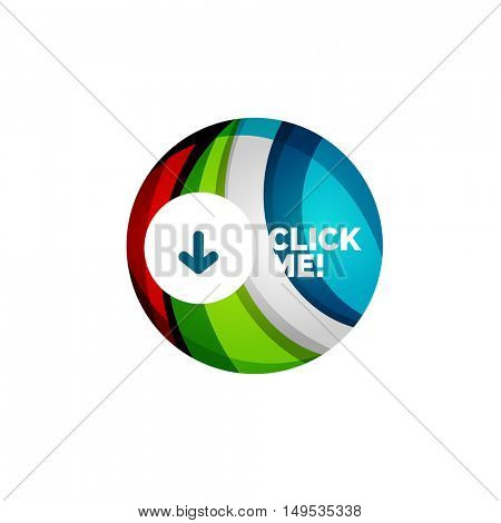 Vector abstract geometric circle button