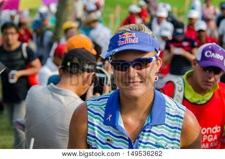 CHONBURI - FEBRUARY 28 : Lexi Thompson of USA champion of Honda LPGA Thailand 2016 at Siam Country Club Pattaya Old Course on February 28 2016 in Chonburi Thailand.