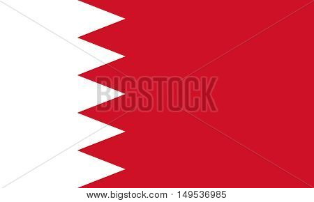 Flag Of Bahrain Horizontal