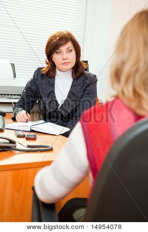 Businesswoman Interviewing A Candidate