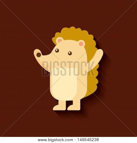 tender cute card porcupine icon vector illustration design