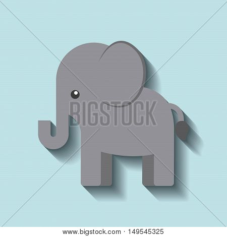 tender cute elephant card icon vector illustration design