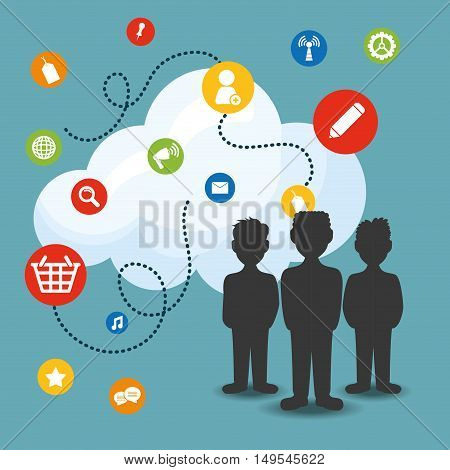 Social network people cloud links search music message