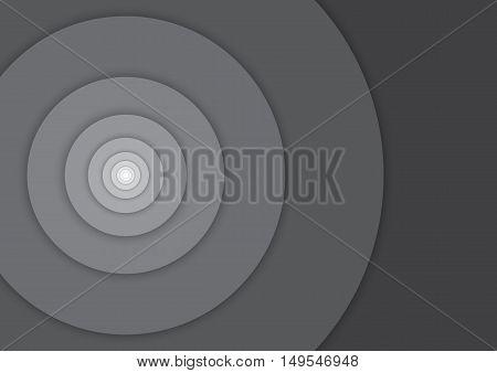 Background - Fibonacci circles - black and white monochrome grayscale - material design - vector illustration