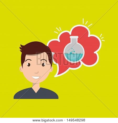 man thinking creating bubble vector illustration eps 10