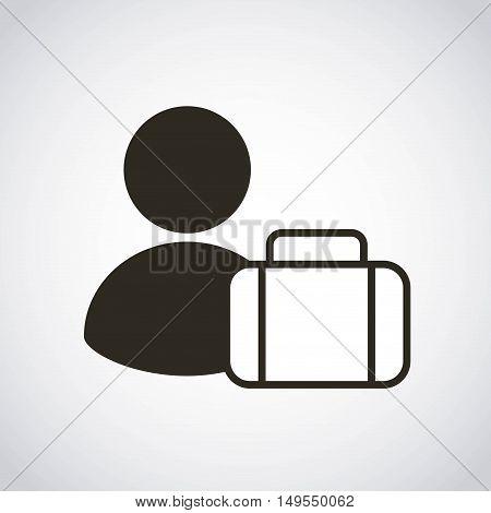 portfolio briefcase business icon vector illustration design