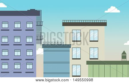 Building silhouette and colors of illustration vector art