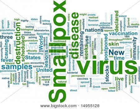 Word cloud concept illustration of  smallpox virus