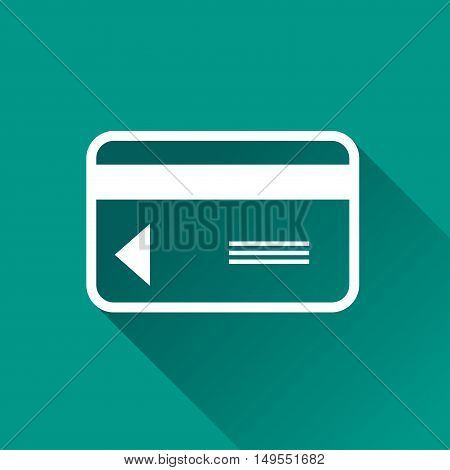 Illustration of credit card icon with shadow